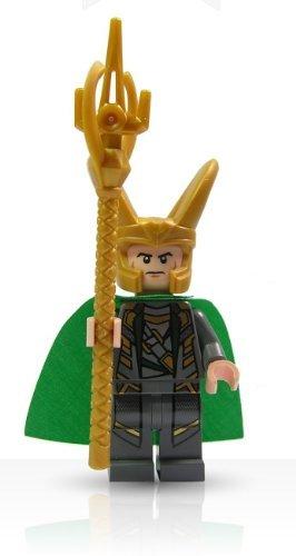 LEGO Super Heroes Avengers Minifigure - Loki with Scepter (Lego Minifigure Super)