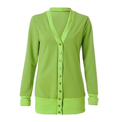 the latest 3c0bf 136f2 Women Scollo Manica Verde Giù yesmile Lunga Maglia A Felpe Top S Maglieria  Donna   Button Camicia ...