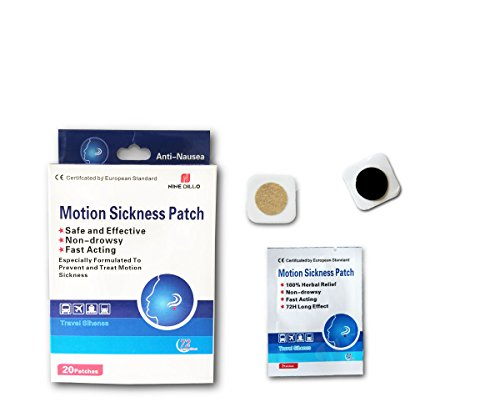 Anti-Nausea Motion Sickness Relief Patch,20 Count/Boxes