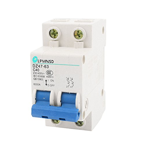 Price comparison product image AC 230V/400V 40A ON/OFF Switch Double Pole Mini Circuit Breaker 6000A