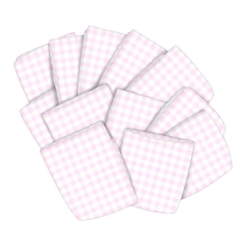 SheetWorld 12 Pack Fitted Pack N Play (Graco) Sheets 27'' x 39'' - Pink Gingham Jersey Knit - Made In USA by sheetworld