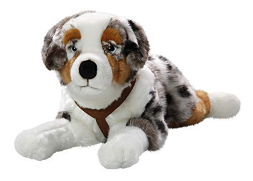 Toy Plush Australian Shepherd - Carl Dick Australian Shepherd Dog Lying 19/24 inches, 45/60cm, Plush Toy, Soft Toy, Stuffed Animal 3440