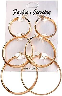 Pendientes geométricos coreanos para mujeres Pendientes circulares de aleación de perlas doradas Joyas Joyas de moda Regalo de San Valentín