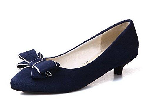 Damen Mattglasbirne Gemischte Farbe Ziehen auf Spitz Zehe Pumps Schuhe, Schwarz, 41 VogueZone009