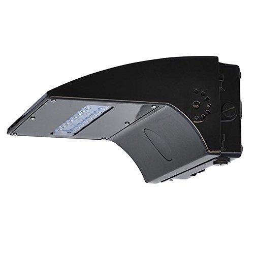 LEDwholesalers 40-Watt LED Wall Pack Outdoor Light Fixture, UL-Listed, 100-277VAC, Daylight 5000K, 3766WH