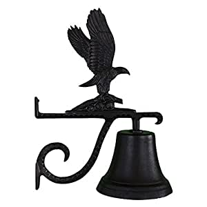 Montague Metal Products Cast Bell With Black Eagle