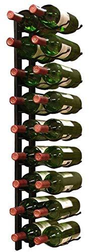 (Vinotemp Metal Wall-Mount 18-Bottle Wine Rack, Black )