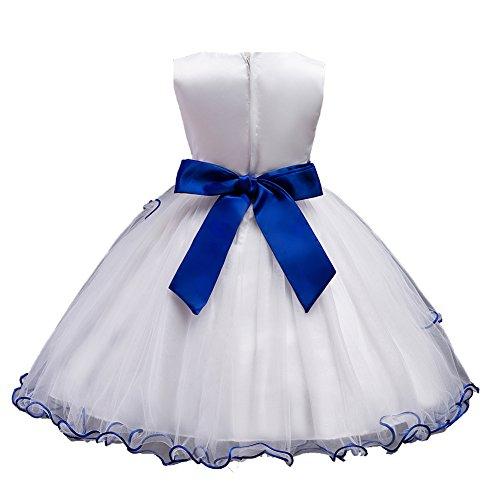 Bleu 140 Floral Princesse 104 116 152 Et Paillettes Court Demoiselle 128 Tulle Ballon Promo D'honneur Taille Bal 164 Fête Soir De Robe Agogo Dentelle Fille Fleur 134 qzFvgg