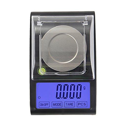 Demiawaking Digital Jewellery Scale, 50g / 0.001g Pocket Mini Electronic Scales LCD Digital Scale High Precision Digital Scales