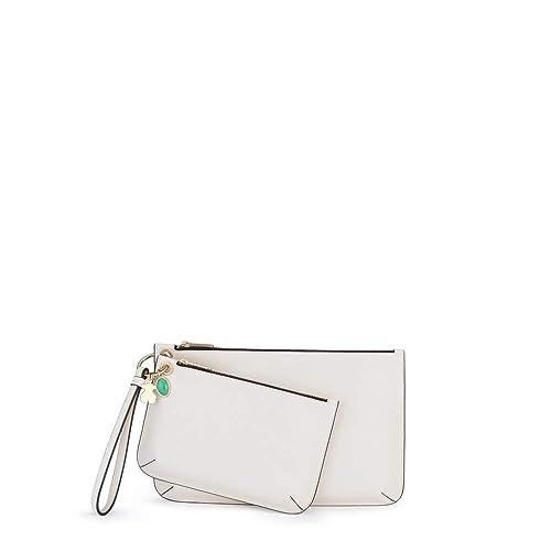 Tous Clutch Hold Blanco, Bolso de Mano para Mujer, 27x17.5x2 cm (