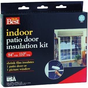 Indoor Patio Door Insulation Kit.
