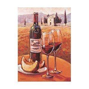 Fertig-Bild - Mauro Cellini  Vino rosso rosso rosso con Fette di Melone 50 x 70 cm 6507a4