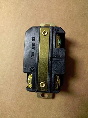 Premium Heavy Duty L6-20R 3-Prong Twist Lock Locking Receptacle Device 20A 250V -