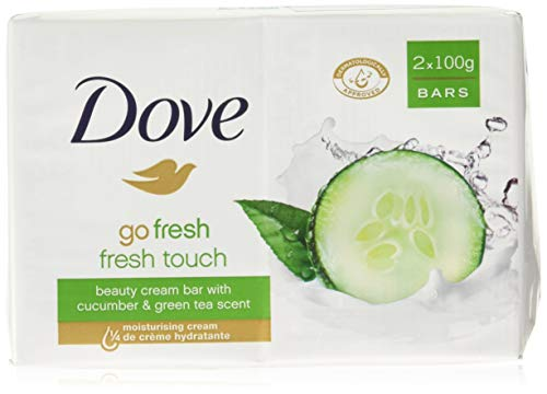 Dove Go Fresh Beauty Bar Soap, Cool Moisture-Fresh Touch, 100 G / 3.5 Oz (Pack of ()