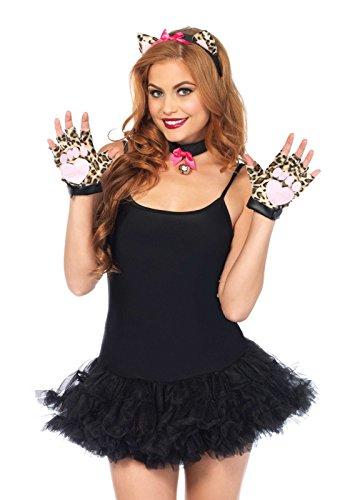 Cougar Costumes Kit - Leg Avenue Women's 3 Piece Cougar Costume Kit, Leopard, One Size