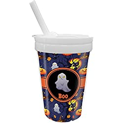 halloween night sippy cup with straw personalized