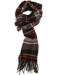Men's Cashmere Feel Winter Plaid Scarf