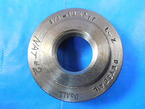 3/8 18 NPTF L2 Pipe Thread Ring GAGE .375 N.P.T.F. Quality Control Inspection