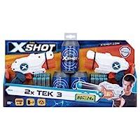 X Shot Micro X3 Double com Latas 2X3 Tiros Candide Branco/Laranja