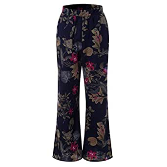 Amiley Clearance!! Womens Wide Leg Lounge Pants Yoga Comfy