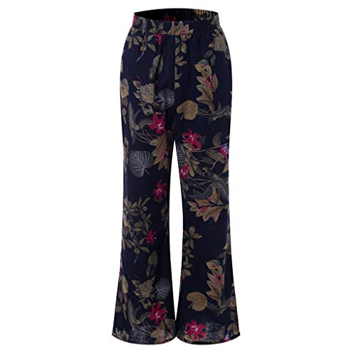 Flared Base - YANG-YI Yoga Pants for Women Plus Size Vintage Floral Flared Pants Vintage Baggy Long Trousers