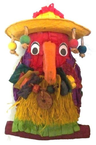 Pete the Parrot 8'' Polly Wanna Pinata Bird Toy by Fetch-It Pets