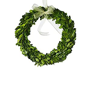 "Richland Boxwood Wreath Natural 10"" Round Preserved Boxwood 35"