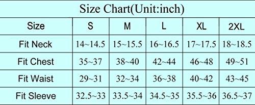 Paul jones mens casual slim fit dress shirts black l for Slim fit shirt size chart