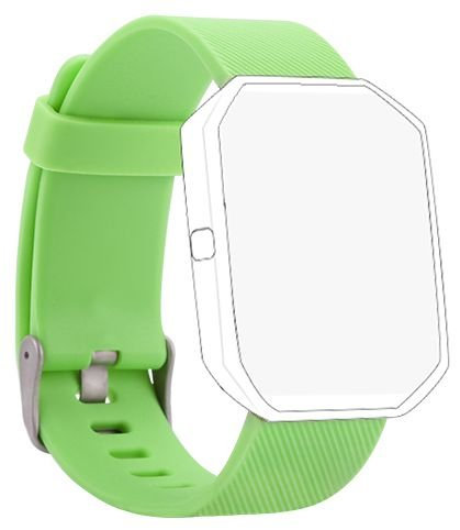 Newest Fitbit Blaze Band, BeneStellar Silicone Replacement Small Large Band Bracelet Strap for Fitbit Blaze Smart Fitness Watch, Lime, Large