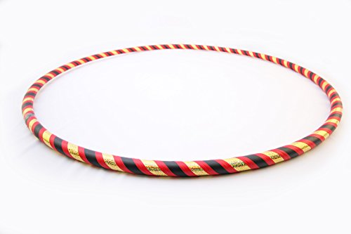 Weighted Hula Hoop for Adults. 1 – 2lbs, You Choose! Made in Bend Oregon. Great for Fitness, Dance and Beginners. (Lady Bug, Small - 38