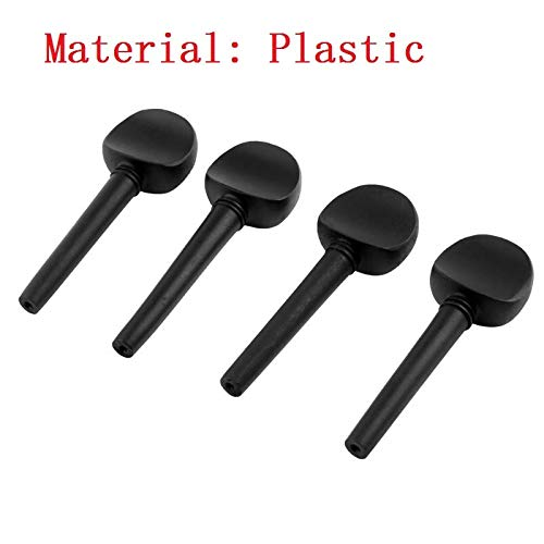 Car accessories - 4PCS/SET 4/4-3/4 Wooden Black Cello Shaft Handle Musical Instruments Tool quality self-adjusted cello shaft Stringed Instrument
