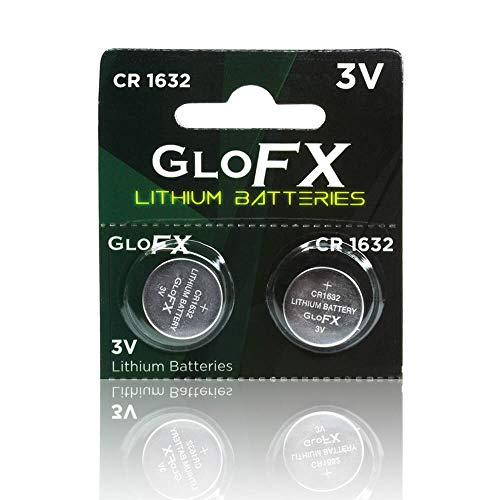 CR1632 Battery- Lithium Button Coin Cell Batteries - 3V 3 Volt - Remote Watch Jewelry led Key fab Replacement 1632 CR Pack Set Bulk (2 Pack) ()