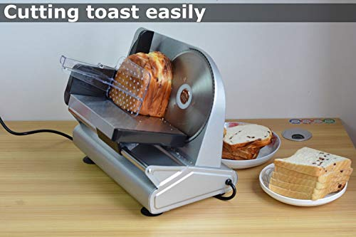 CGOLDENWALL Electric Meat Slicer Mini Mutton Toast Bread Slicing Machine Household Bread Vegetable Fruit Slicer Commercial Beef Slices Cutter (220V) by CGOLDENWALL (Image #5)
