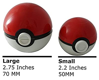 Pokemon Pokeball LARGE Herb Grinder 4 piece 2.75in 70mm by Hobby Lifestyle from Hobby Lifestyle