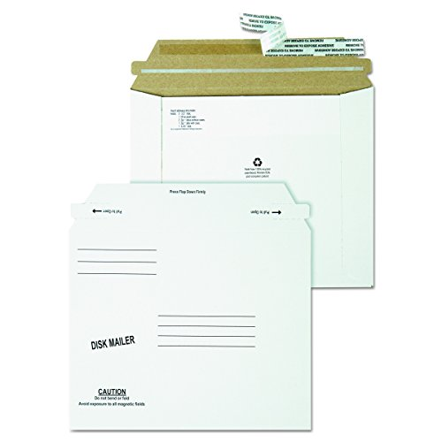 Quality Park 64117 Recycled Redi Strip Economy Disk Mailer, 7 1/2 x 6 1/16, White (Case of 100) (Disk Quality Park)