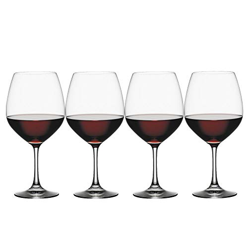 Spiegelau Vino Grande Burgundy Wine Glasses (Set of 4), 25 oz, Clear