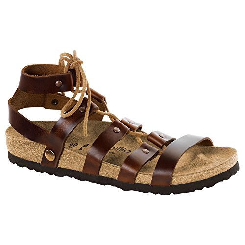 Birkenstock Women's Cleo Cognac Leather Sandal 41 (US Women's 10-10.5) by Birkenstock