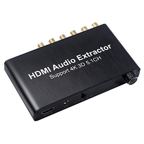 SODIAL(R) HDMI Audio Decoder HDMI 5.1 Audio Decoder Dolby 4K 3D