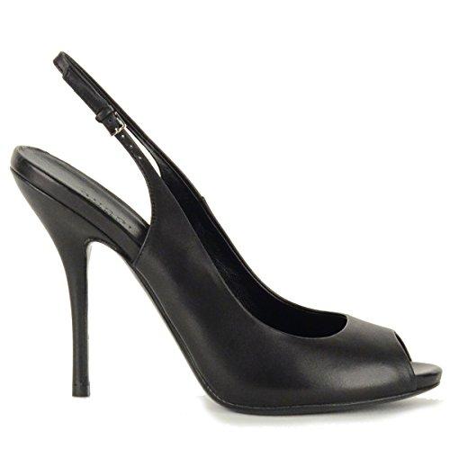 Gucci-Shoes-Slingbacks-Black-Leather-Open-Toeline-High-Heel