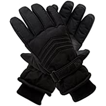 Pierre Cardin Taslon Ski Gloves for Men with Thinsulate in Large and Medium Sizes