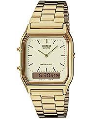 Casio AQ230GA-9D Mens Casual Classic Analog Digital Gold Watch Alarm Stopwatch