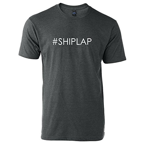 Huk'd Up Shirt Company #Shiplap T-Shirt Shiplap Fixer Upper Joanna Gaines HGTV Demoday (X-Large, Charcoal Heather With White Design)