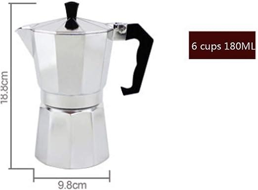 Cafetera Italiana de Moca casera cafetera de una Sola válvula Goteo Espresso Italiano: Amazon.es: Hogar