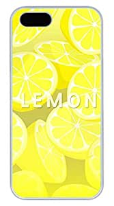 Lemon Hard Case Cover iPhone 5S 5 Polycarbonate White