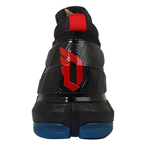 big sale 30261 6aa55 Adidas Mens D Lillard 2, YEAR OF THE MONKEY-BLACKREDBLUE - B