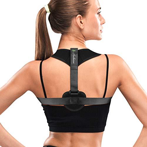 Back Brace Posture Corrector for Women&Men-Back Straightener Support Brace for Neck Shoulder Back Pain Relief-Improve Slouching Spine Alignment Hunchback with Front Adjustable Straps