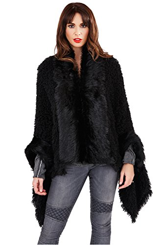Boutique Winter Time - Poncho - para mujer negro