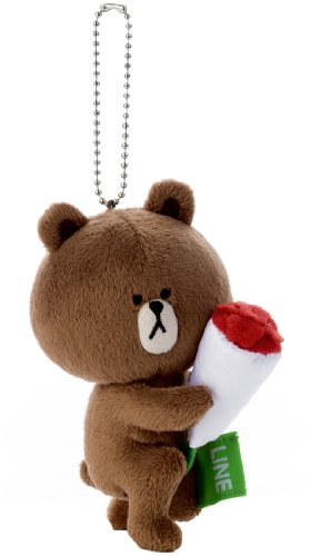 LINE CHARACTER mascot (with ball chain) Brown BR-15 (japan import)