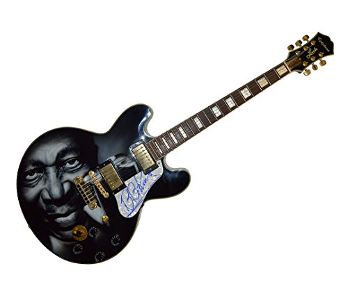 - B.B. King Autograph Signed Gibson Epiphone Lucille Guitar PSA AFTAL