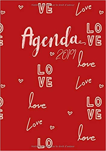 Agenda 2019 Love: Lagenda-calendrier rouge avec citations ...